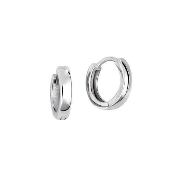 Σκουλαρίκια Κρικάκια Λευκόχρυσα 14Κ 003406 Jewelor
