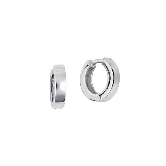 Σκουλαρίκια Κρικάκια Λευκόχρυσα 14Κ 003426 Jewelor