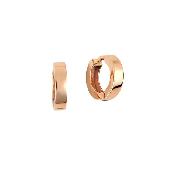 Σκουλαρίκια Κρικάκια Ροζ Χρυσά 14Κ 003408 Jewelor