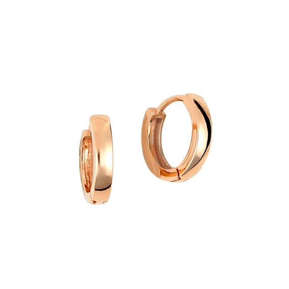 Σκουλαρίκια Κρικάκια Ροζ Χρυσά 14Κ 14Κ 003416
