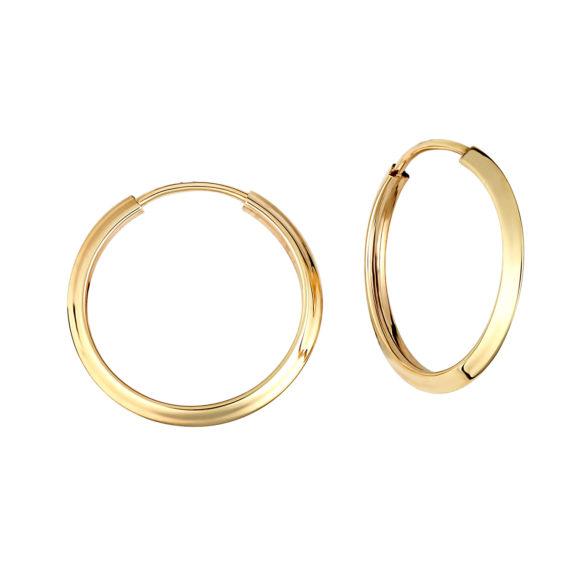 Σκουλαρίκια Κρίκοι Χρυσά 14Κ 003404 Jewelor