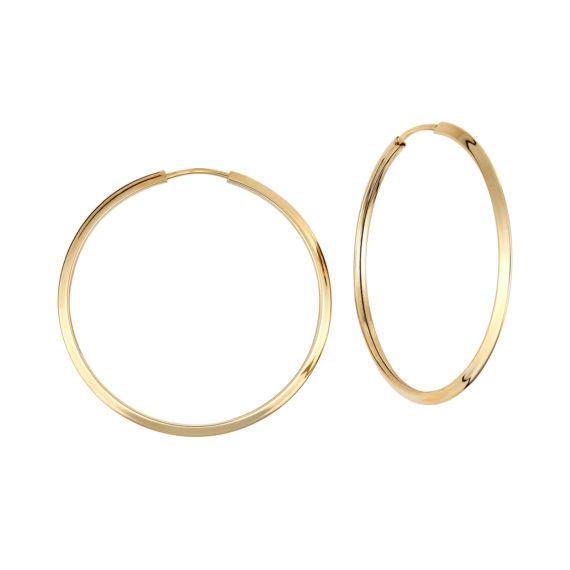 Σκουλαρίκια Κρίκοι Χρυσά Μεγάλα 14Κ 003405 Jewelor